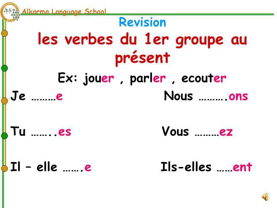 Revision les verbes du 1er groupe au présent