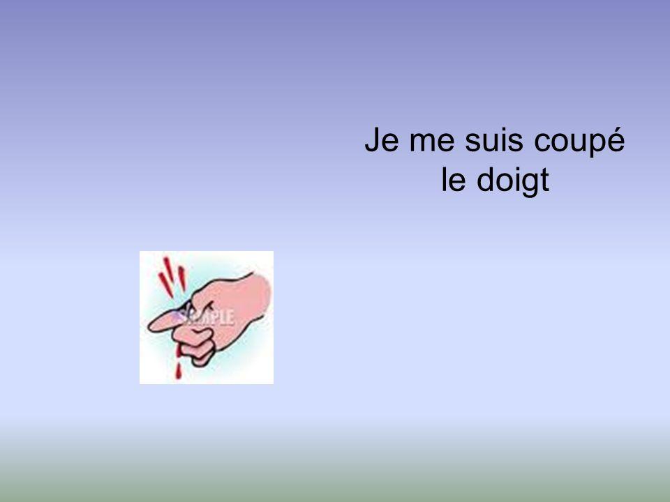 Je me suis coupé le doigt