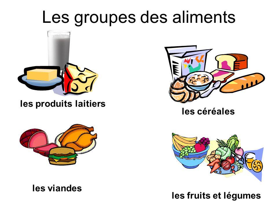 Les groupes des aliments