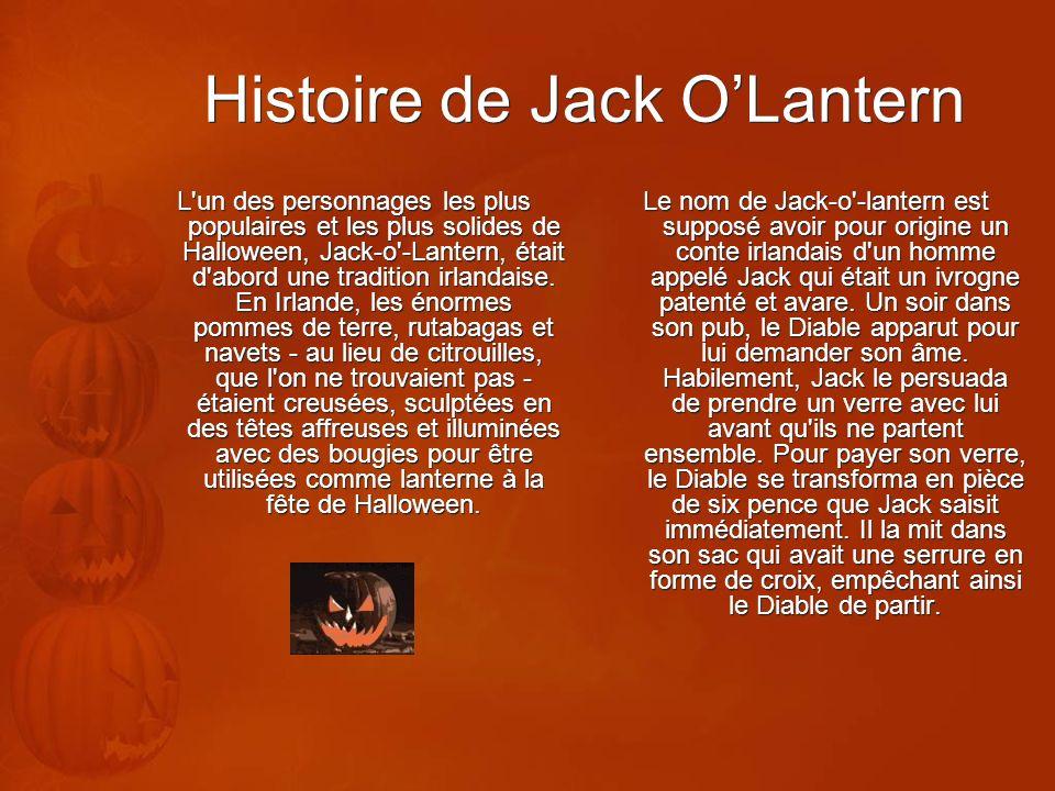 Histoire de Jack O'Lantern