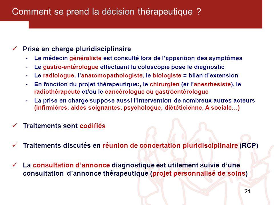 Comment se prend la décision thérapeutique