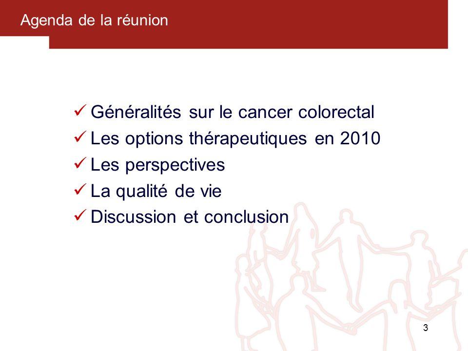 Généralités sur le cancer colorectal