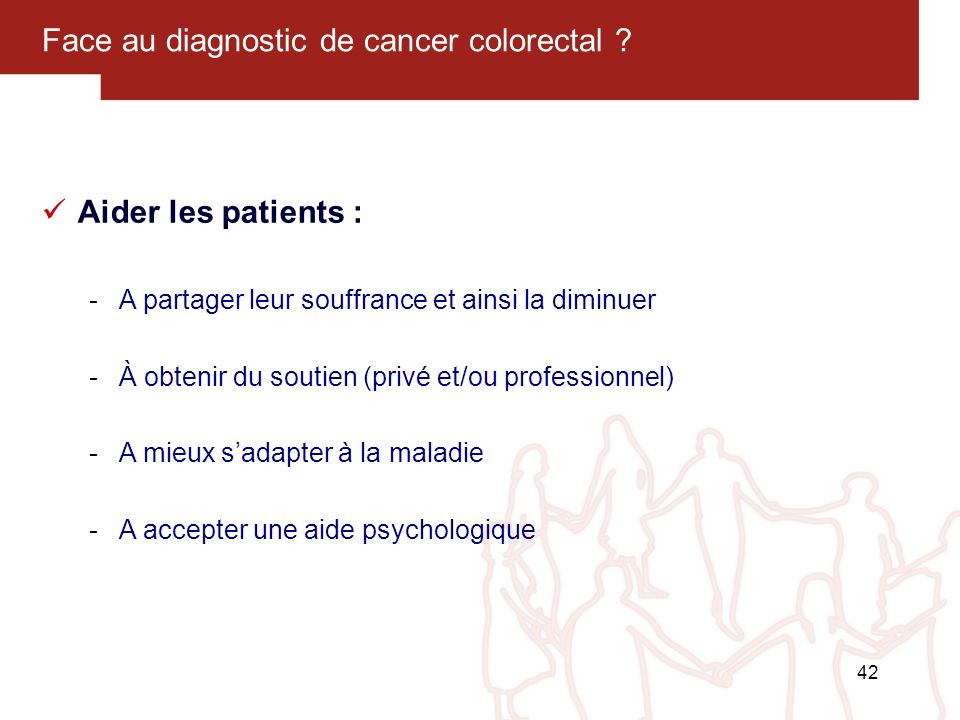 Face au diagnostic de cancer colorectal