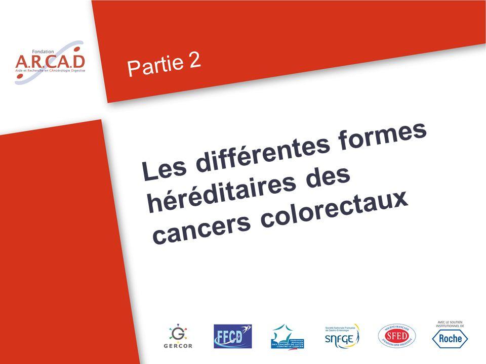 Les différentes formes héréditaires des cancers colorectaux