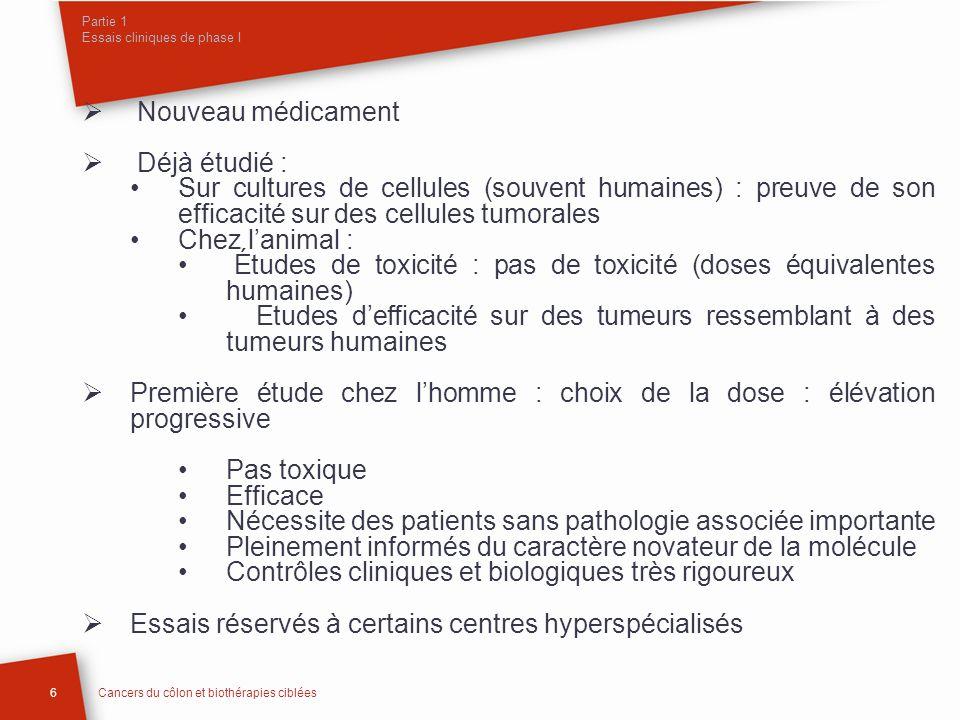 Partie 1 Essais cliniques de phase I