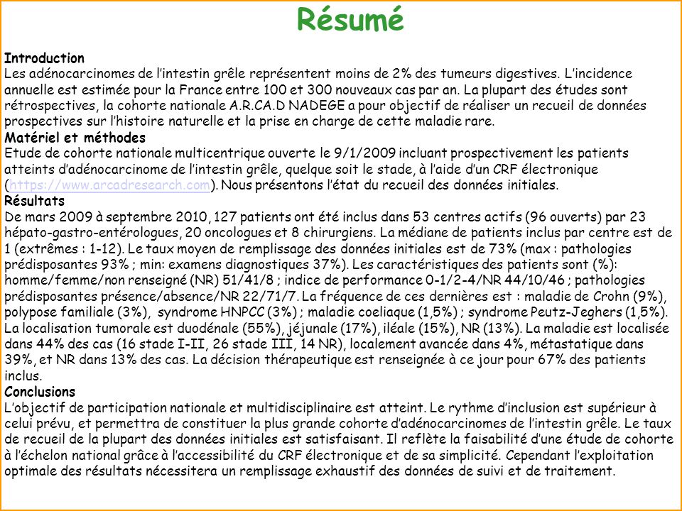 Résumé Introduction.