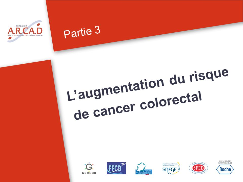L'augmentation du risque de cancer colorectal