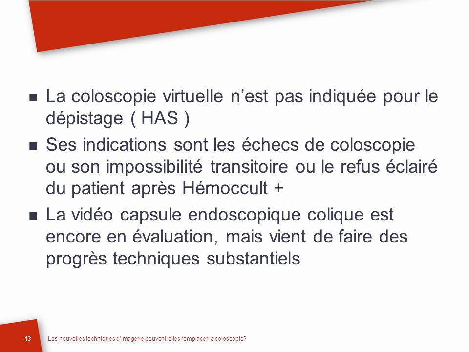 La coloscopie virtuelle n'est pas indiquée pour le dépistage ( HAS )