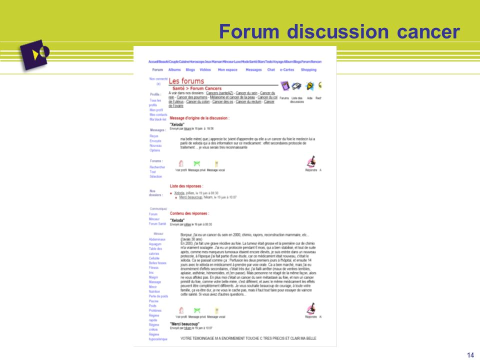 Forum discussion cancer