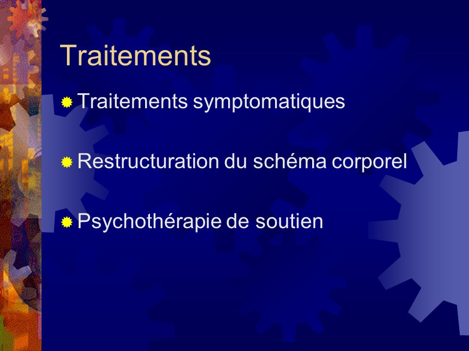 Traitements Traitements symptomatiques