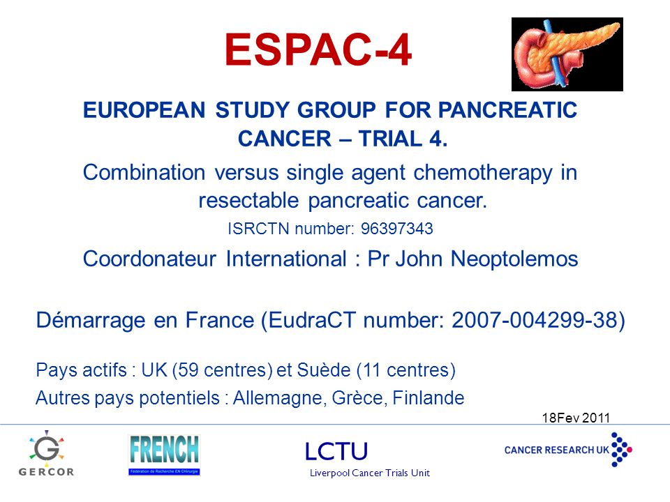 EUROPEAN STUDY GROUP FOR PANCREATIC CANCER – TRIAL 4.