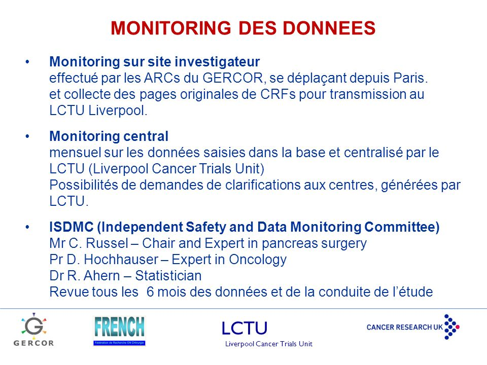 MONITORING DES DONNEES