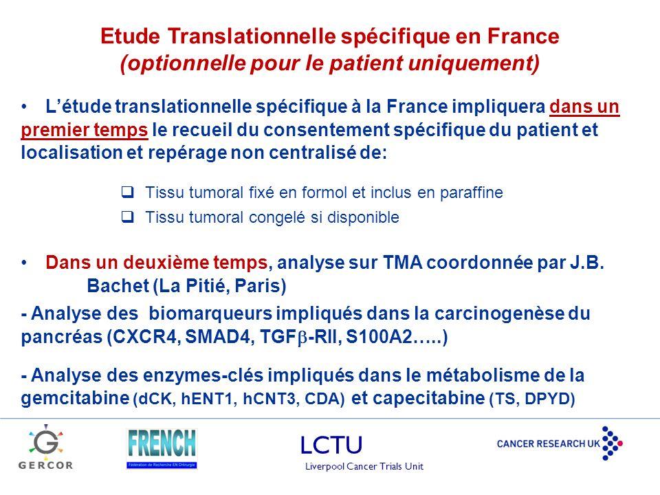 Etude Translationnelle spécifique en France