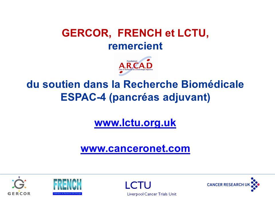 du soutien dans la Recherche Biomédicale ESPAC-4 (pancréas adjuvant)