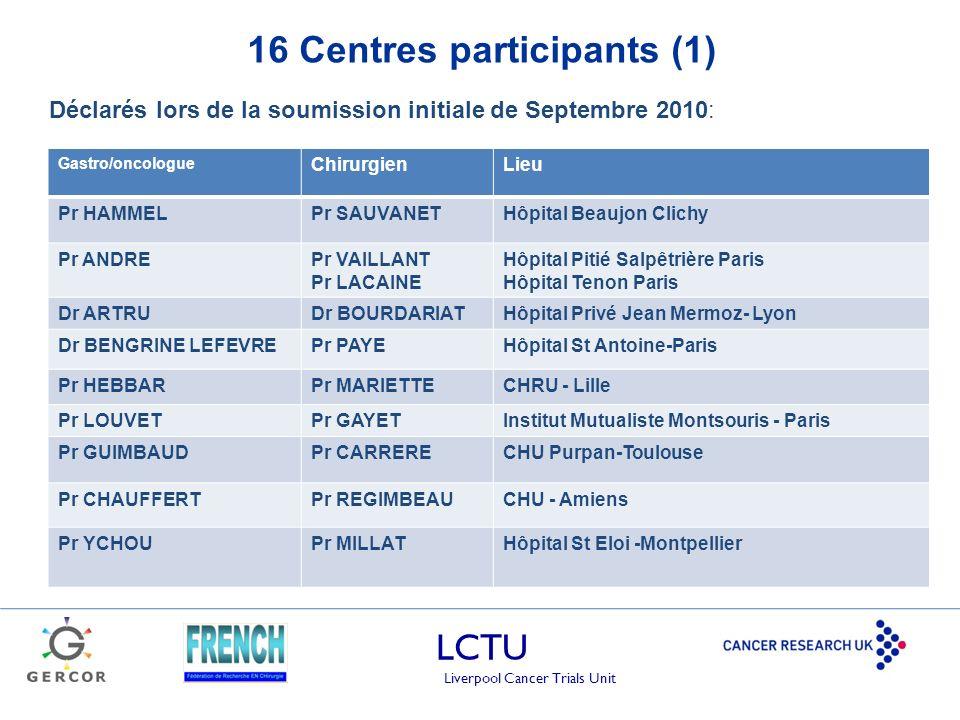 16 Centres participants (1)