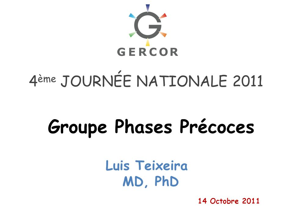 Groupe Phases Précoces