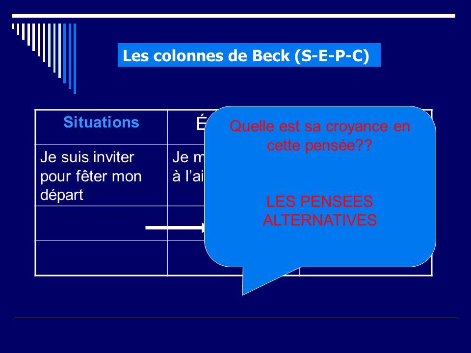 Les colonnes de Beck (S-E-P-C)