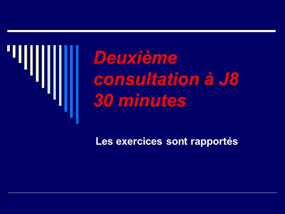 Deuxième consultation à J8 30 minutes