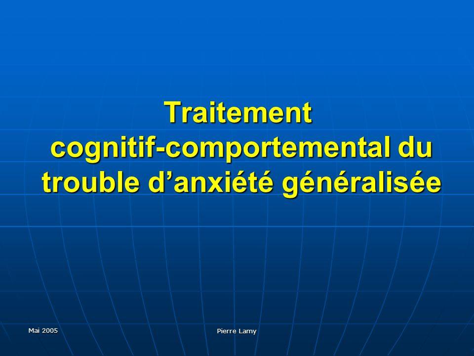 Traitement cognitif-comportemental du trouble d'anxiété généralisée