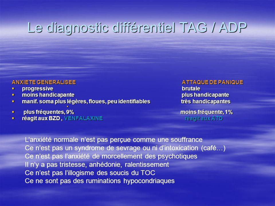 Le diagnostic différentiel TAG / ADP