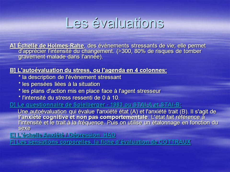 Les évaluations