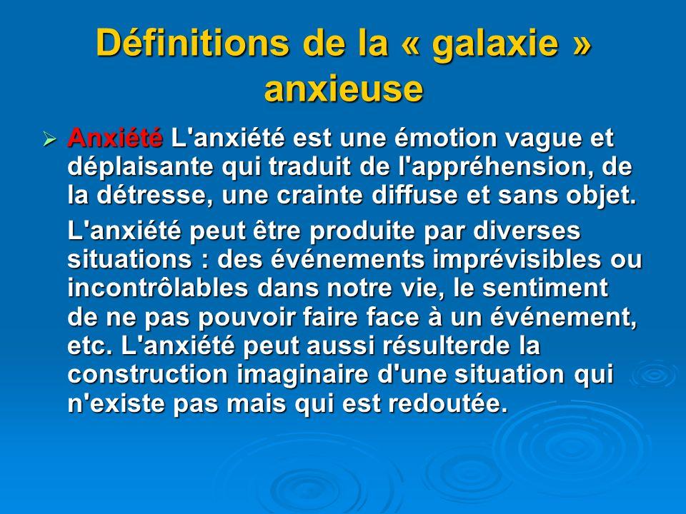 Définitions de la « galaxie » anxieuse