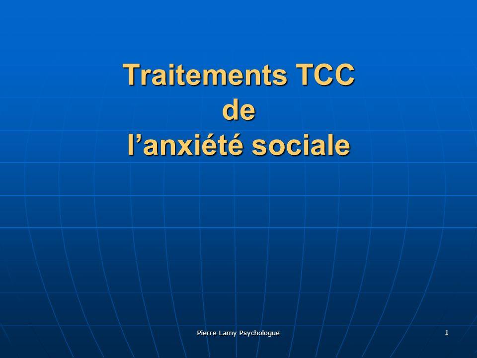 Traitements TCC de l'anxiété sociale