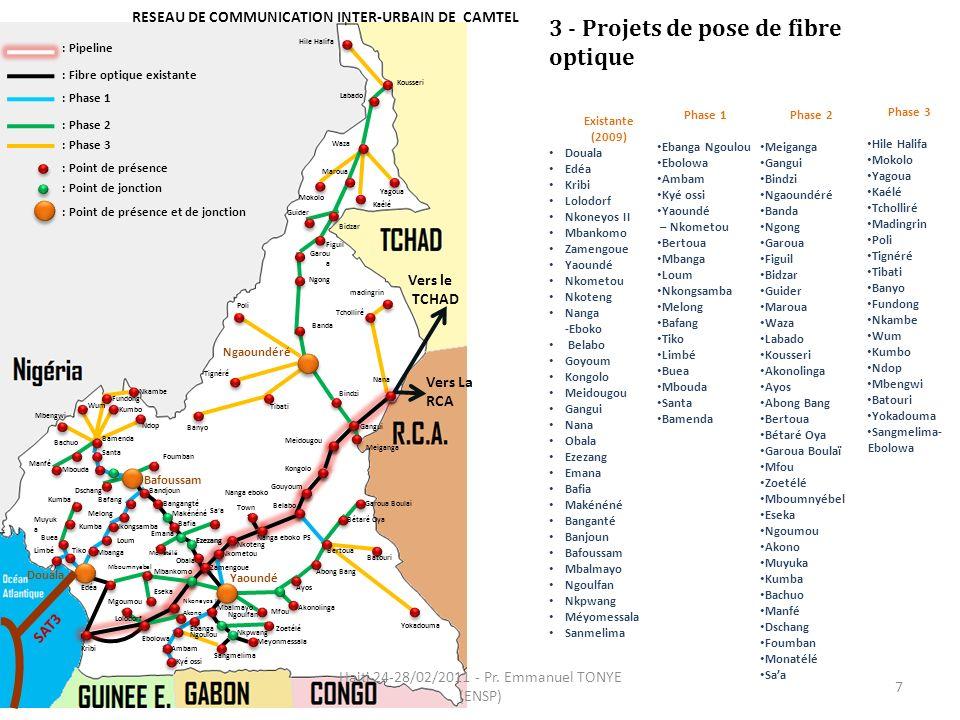 RESEAU DE COMMUNICATION INTER-URBAIN DE CAMTEL