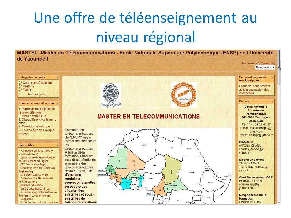 Une offre de téléenseignement au niveau régional