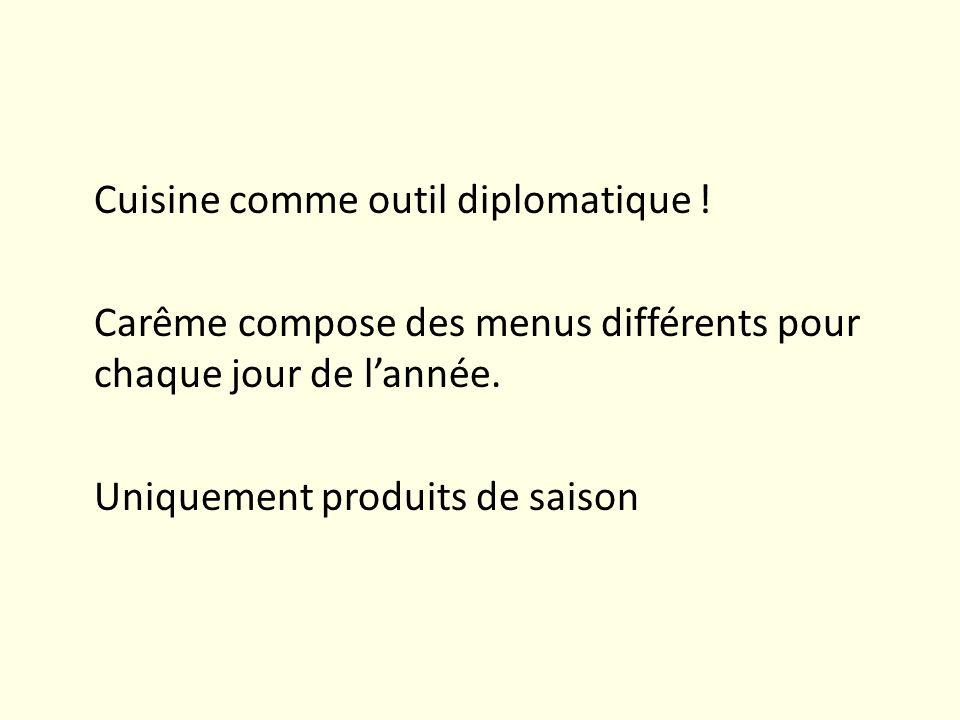 Cuisine comme outil diplomatique