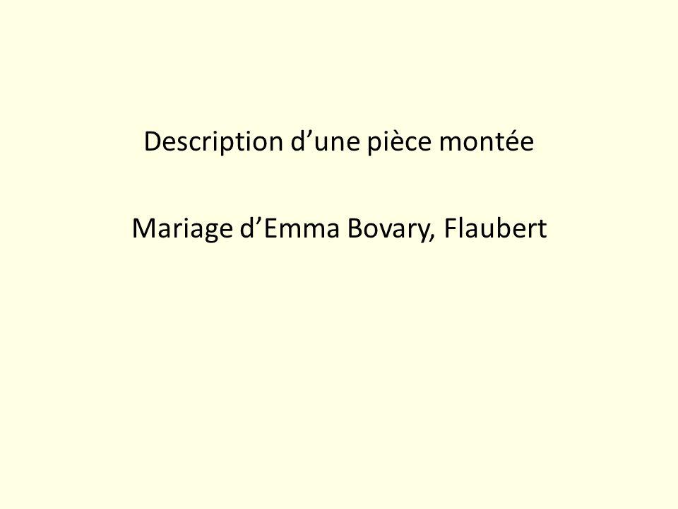 Description d'une pièce montée Mariage d'Emma Bovary, Flaubert