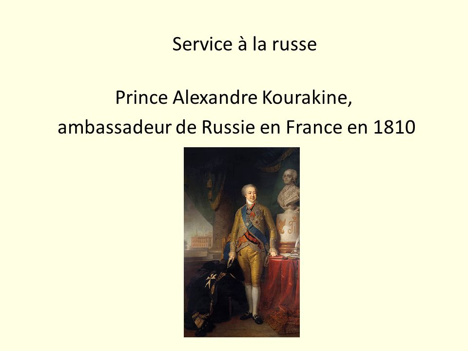 Prince Alexandre Kourakine, ambassadeur de Russie en France en 1810