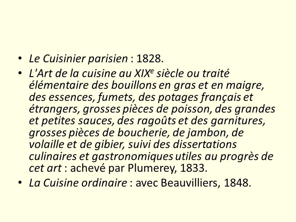 Le Cuisinier parisien : 1828.
