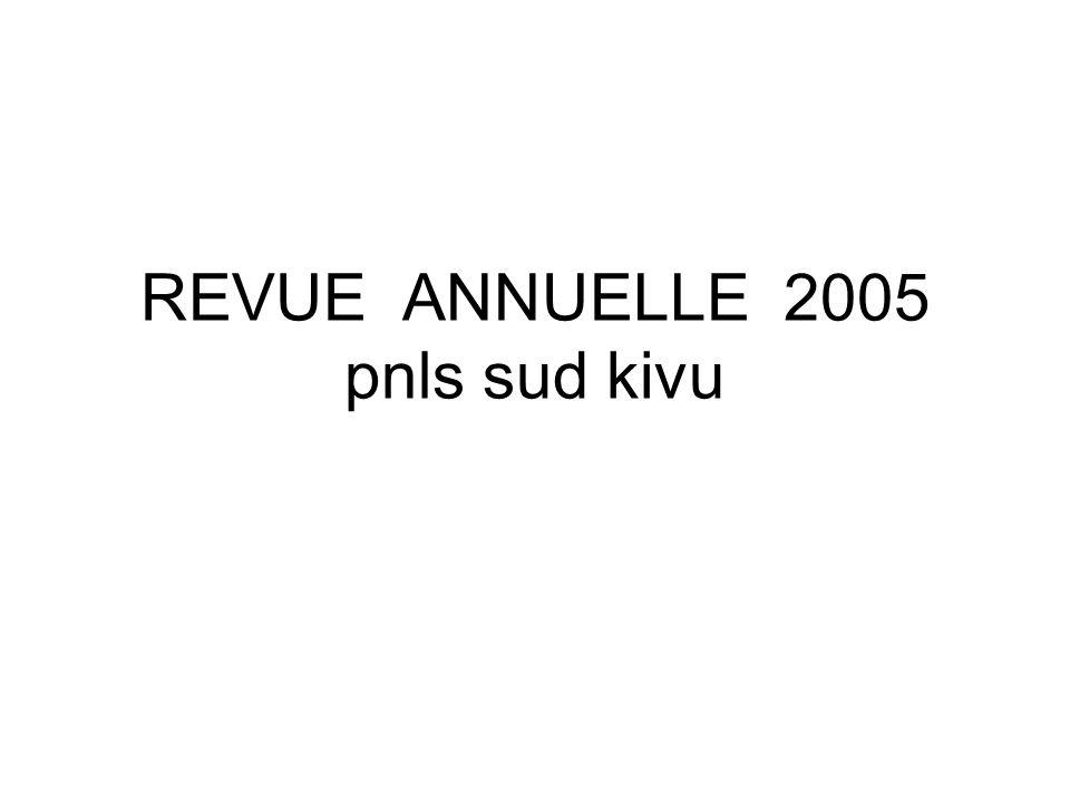 REVUE ANNUELLE 2005 pnls sud kivu