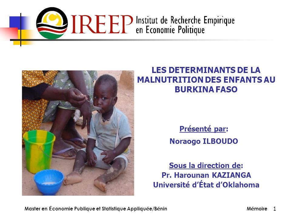 LES DETERMINANTS DE LA MALNUTRITION DES ENFANTS AU BURKINA FASO