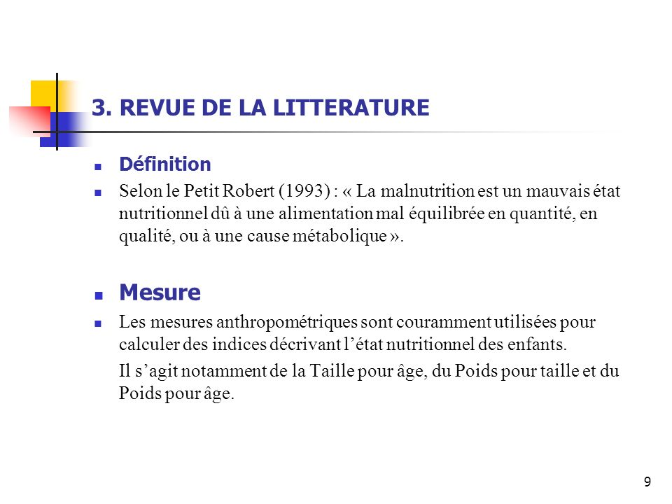3. REVUE DE LA LITTERATURE