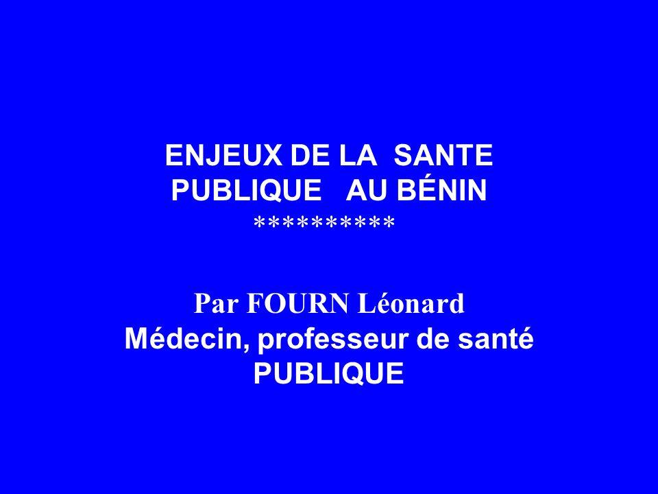 ENJEUX DE LA SANTE PUBLIQUE AU BÉNIN **********