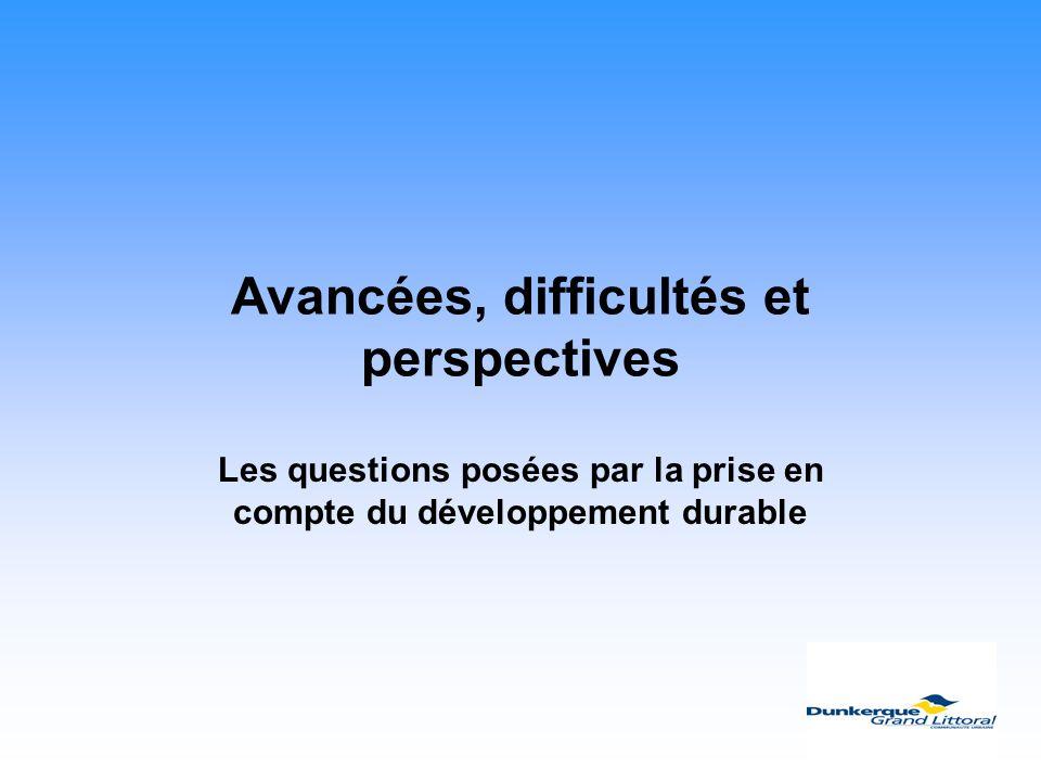 Avancées, difficultés et perspectives