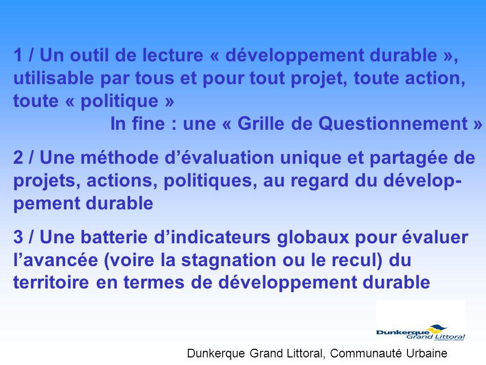 1 / Un outil de lecture « développement durable »,