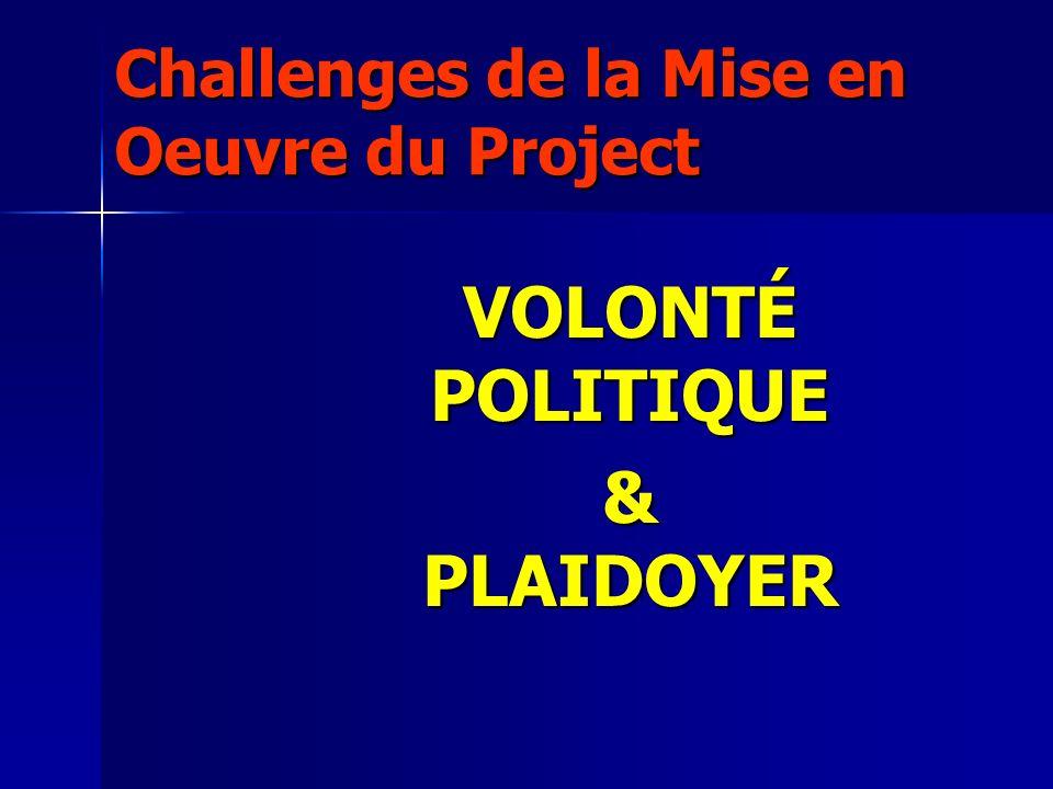 Challenges de la Mise en Oeuvre du Project