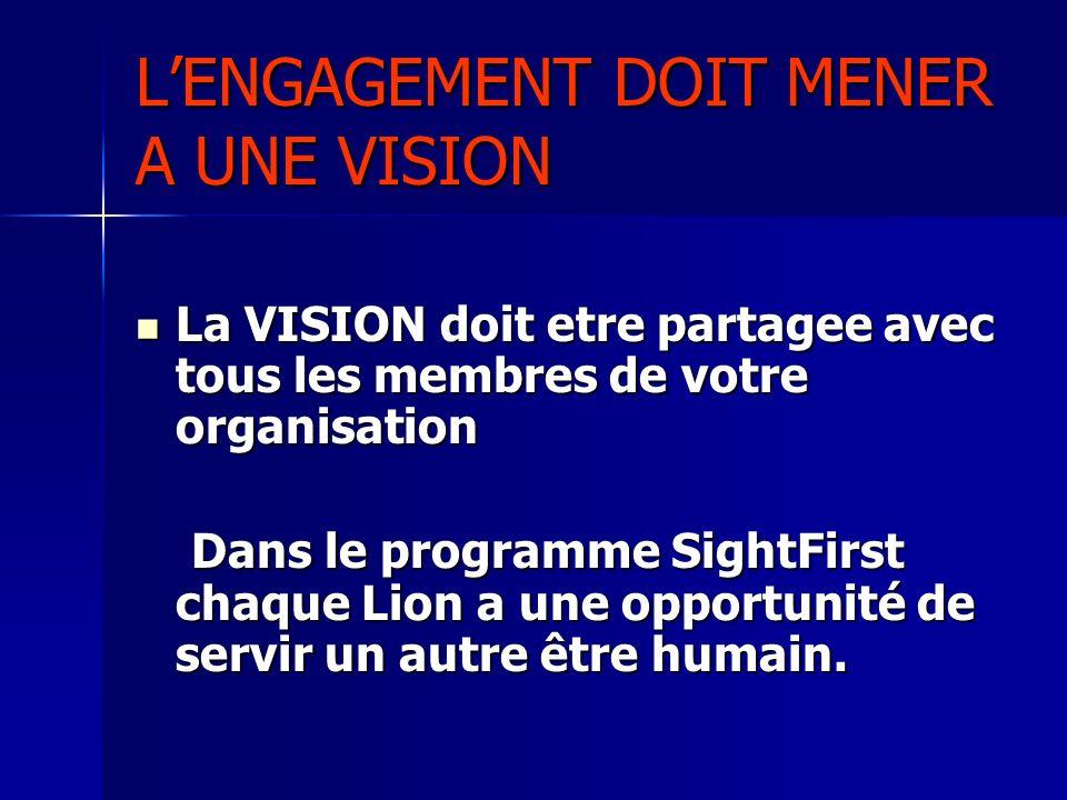 L'ENGAGEMENT DOIT MENER A UNE VISION