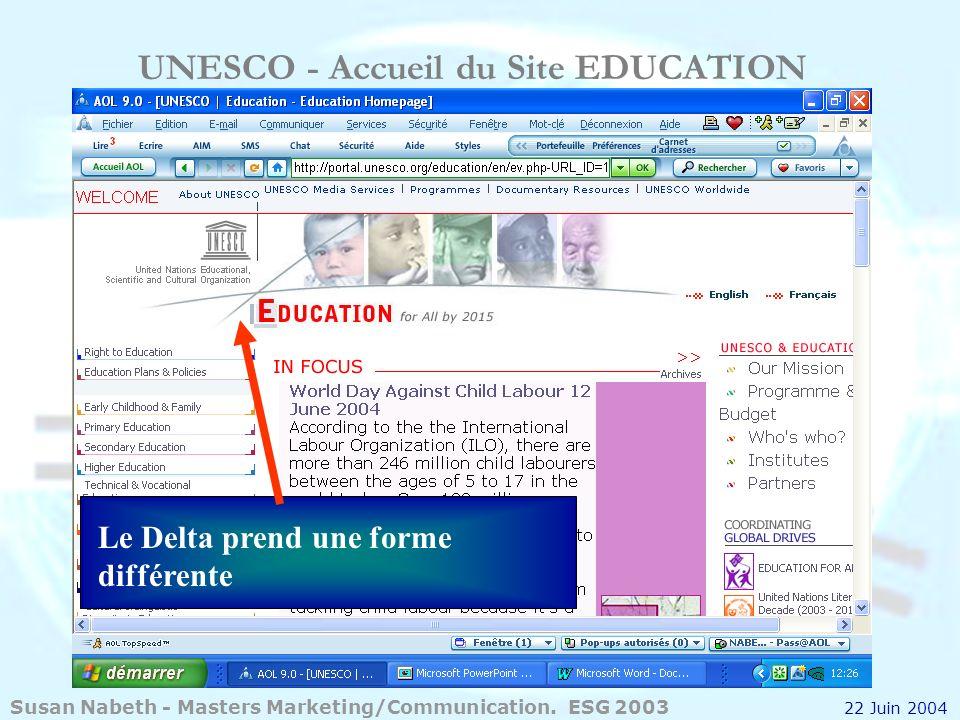 UNESCO - Accueil du Site EDUCATION