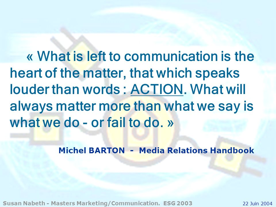 Michel BARTON - Media Relations Handbook