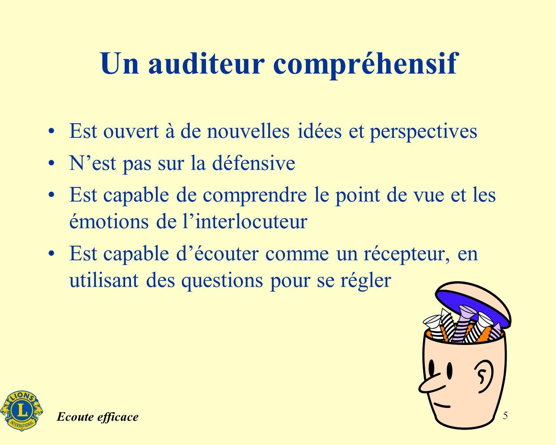 Un auditeur compréhensif