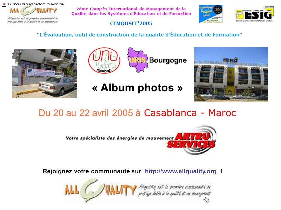 Du 20 au 22 avril 2005 à Casablanca - Maroc
