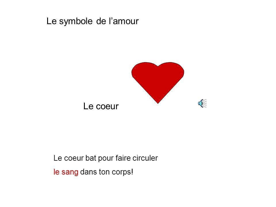 Le symbole de l'amour Le coeur Le coeur bat pour faire circuler