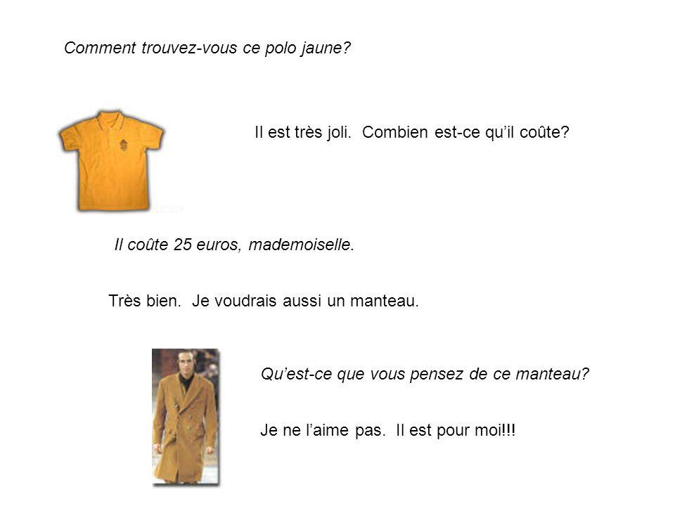 Comment trouvez-vous ce polo jaune
