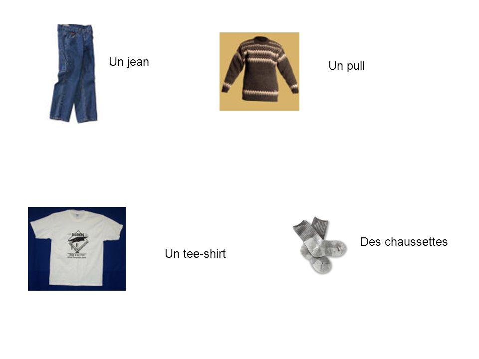 Un jean Un pull Des chaussettes Un tee-shirt
