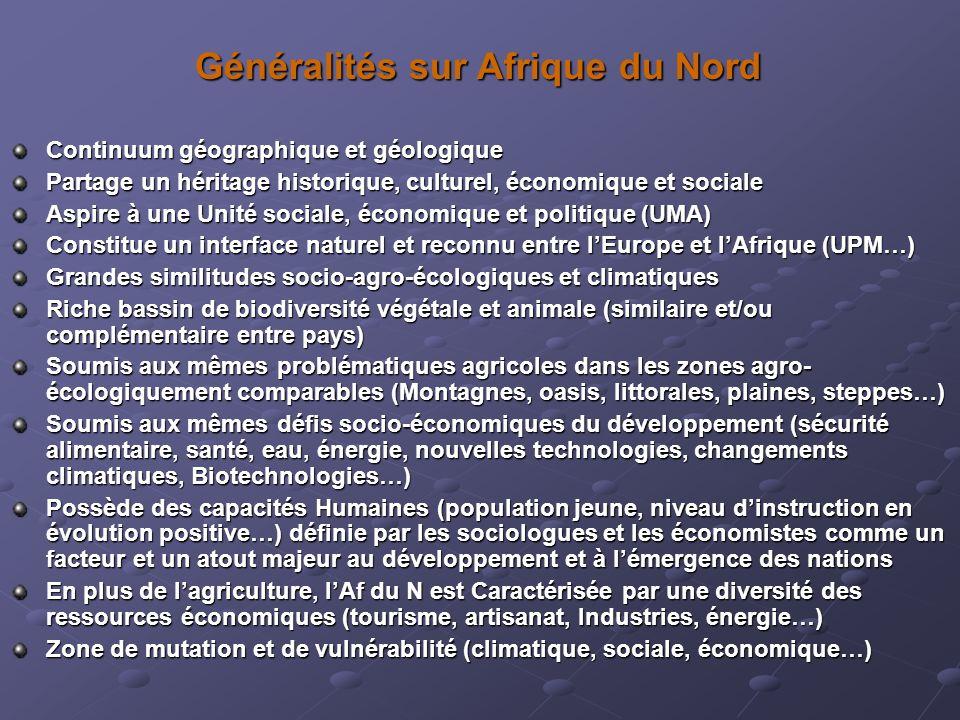 Généralités sur Afrique du Nord