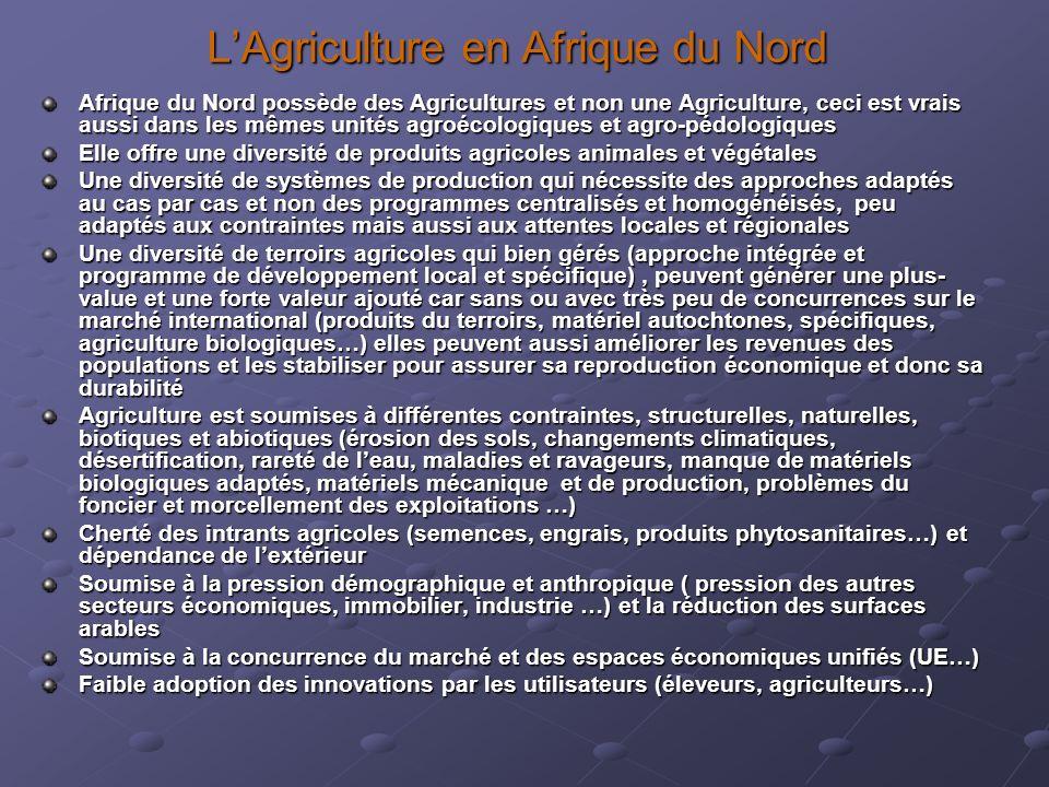 L'Agriculture en Afrique du Nord